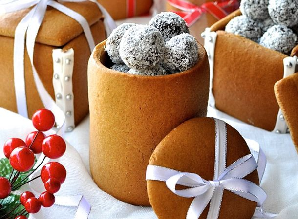 caixinha de biscoito para comer e presentear no natal.