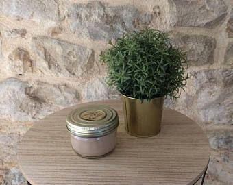 """Bougie décorative - senteur """"arbre à the"""" - cire de soja - meche de bois - decoration tendance automne-hiver"""