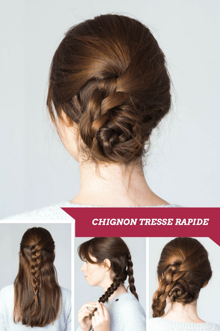 + ideas about Coiffure Chignon Tresse on Pinterest  Coiffure Chignon ...