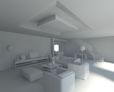 V-Ray for SketchUp Rendering an Interior Scene
