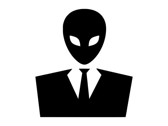Alien Suit Outdoor Adhesive Vinyl Decal D1059  There here....Aliens will infiltrate us by wearing suits like us. This product is made of