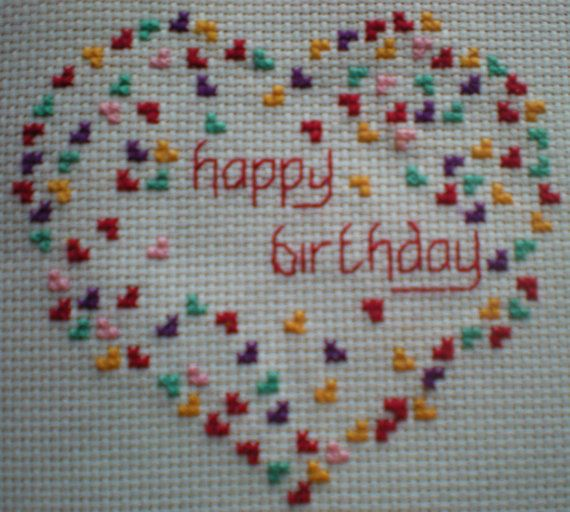Heart of Hearts Cross Stitch Card Kit by CordylionCreatives