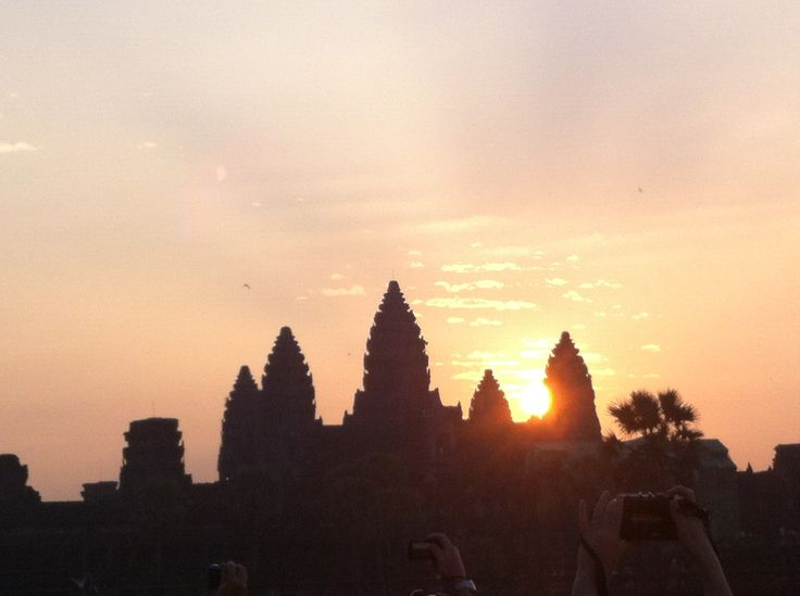 Sunrise over Angkor Wat Temple in Siem Reap, Cambodia.  Part of my 2013 South East Asia Trip