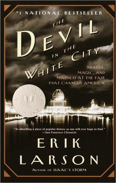 """One of the great modern piece of """"historical fiction"""" as Larson tells the factual and deep look at how the Chicago's World Fair came together and also the true and factual macabre tale of the serial killer who lived right in town during that same time. Soon to be a film with Leonardo DeCaprio playing the killer. Highly recommended."""