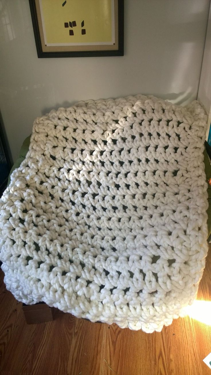 Commissioned arm crocheted, heave blanket