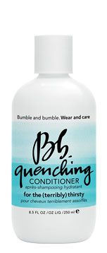 Bumble and Bumble Quenching Conditioner ... This hydrating conditioner begins replenishing vital moisture in the shower.
