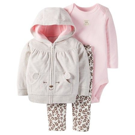 Shop now. Dimensional pouch pocket and leopard print pants add so much cuteness to our little jacket set!