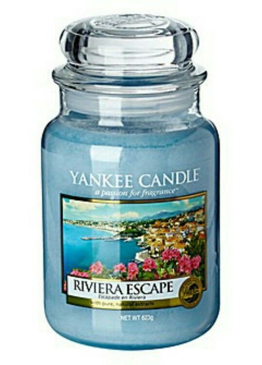 YANKEE CANDLE - RIVIERA ESCAPE- LARGE HOUSEWARMER CANDLE. FREE P P!!!