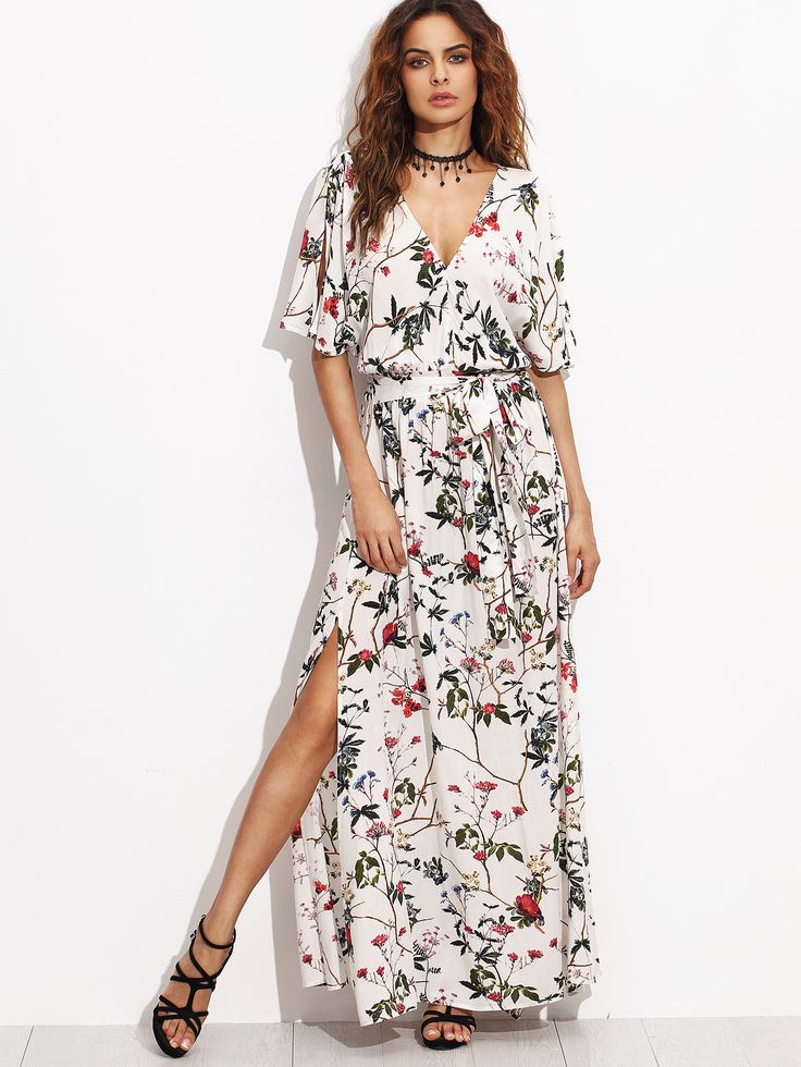 Shop Multicolor Short Sleeve Maxi Dress online. SheIn offers Multicolor Short Sleeve Maxi Dress & more to fit your fashionable needs.