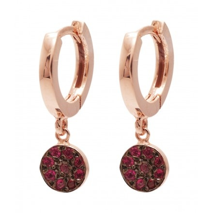 JADA Mira earrings with rubies