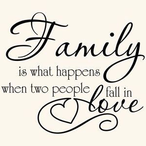 Family love quote vinyl wall decal sticker art-removable words home decor