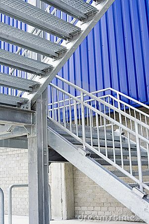 Metal staircase by Yong hian Lim, via Dreamstime