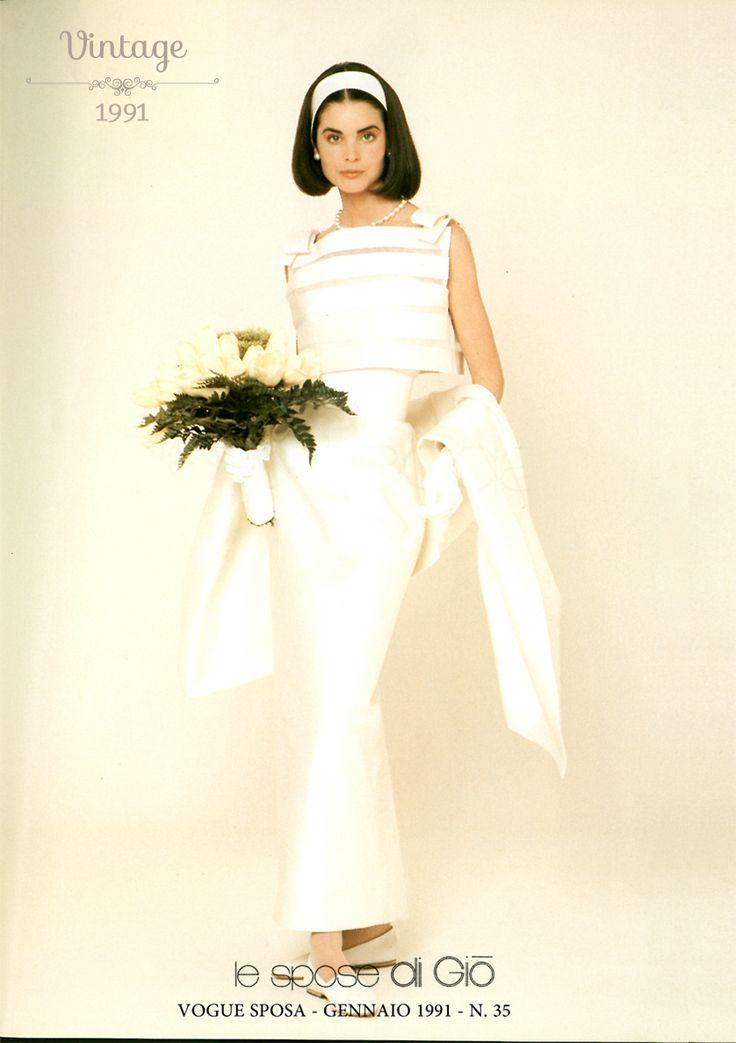 Vogue Sposa | Gennaio 1991 Un vintage di Giò. #digio #vintagedigio #abitodasposa #madeinitaly lesposedigio.com