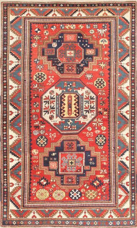 Antique Tribal Caucasian Kazak Rug 46350 Main Image - By Nazmiyal #antiquerugs #rugs #vintagerugs #antiquecarpets #carpets #vintagecarpets #moroccanrugs #orientalcarpets #orientalrugs #persiancarpets #persianrugs