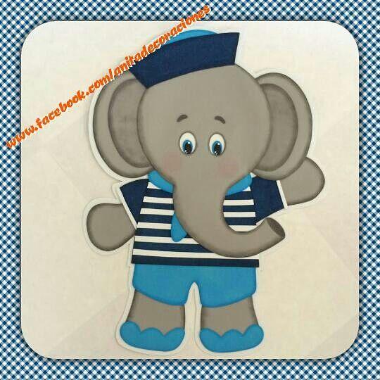 Elefante marinero 80cm