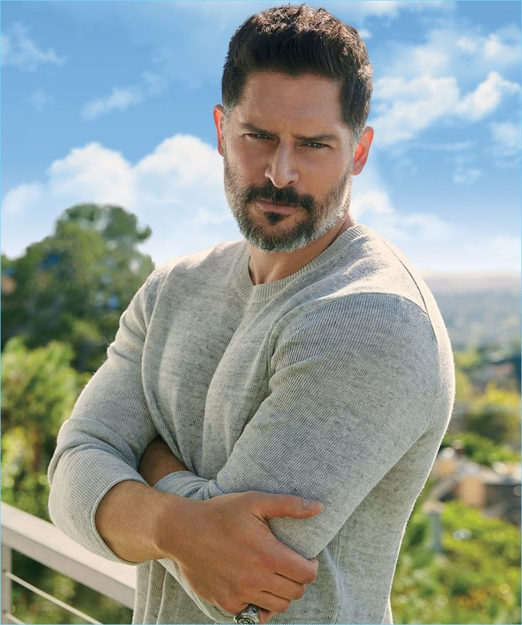 John Russo photographs Joe Manganiello in a Vince linen sweater for Ocean Drive.