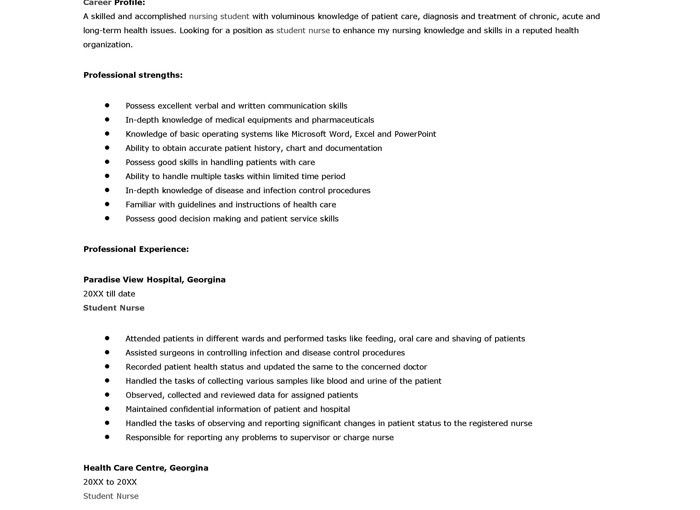 student resume examples first job