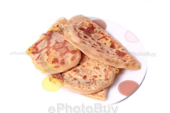 Puran Poli sweet flatbread stock photo