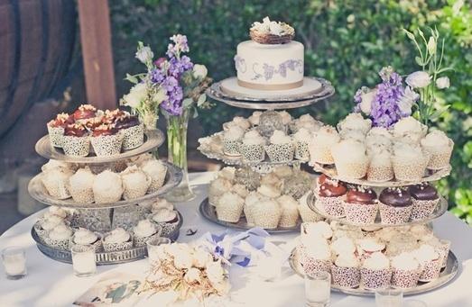beautiful cupcake display