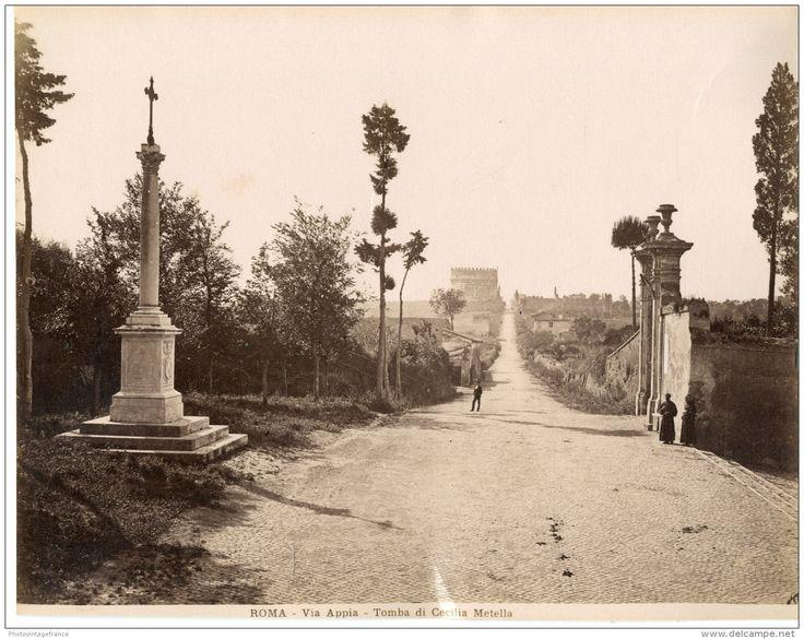 Via Appia, Tomba di Cecilia Metella  1880