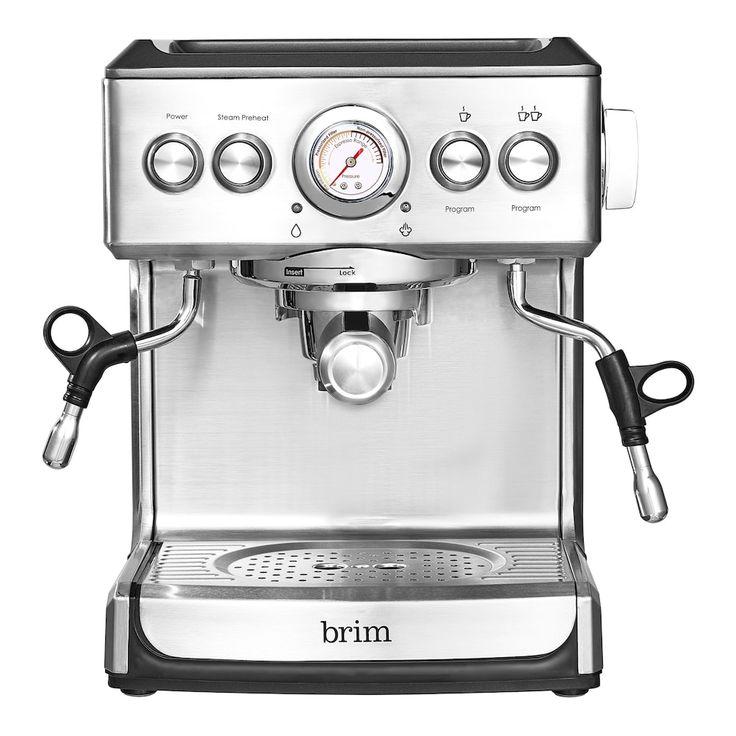 Brim 19 bar espresso maker silver espresso espresso