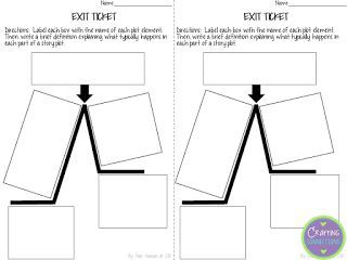 FREEBIE exit ticket for teaching plot!  This post also includes an anchor chart idea and picture book mentor text suggestion for teaching plot!