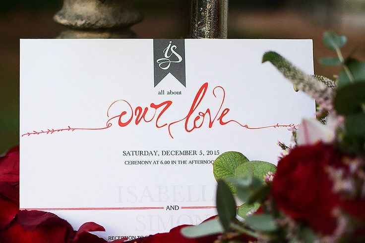 Modern and vibrant  invitation with customized hand drawn details and key words