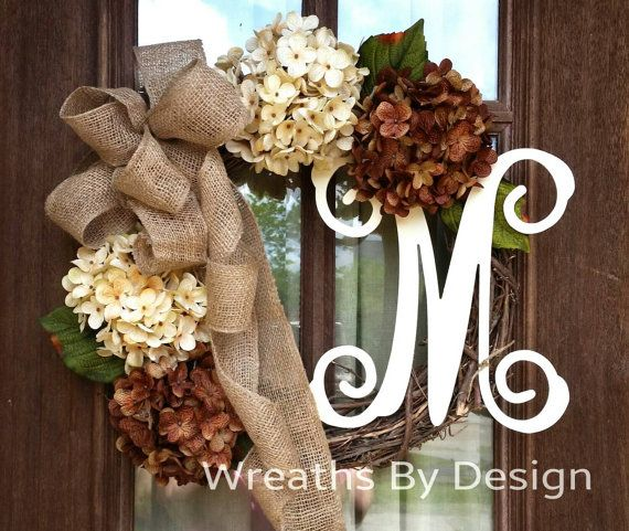 Check out this item in my Etsy shop https://www.etsy.com/listing/232374718/initial-grapevine-wreath-monogram-wreath