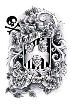 Download Free tattoo ideas on Pinterest | Family Crest Tattoo Crest Tattoo and Coa ... to use and take to your artist.