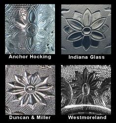 """4 companies made """"Sandwich Glass"""" in the 20th Century; I am collecting mostly Indiana/Tiara Sandwich Glass although I have a few items of Anchor Hocking Sandwich also. My preference is for the clear/colorless version, although I have a Spruce green serving tray for Christmas."""