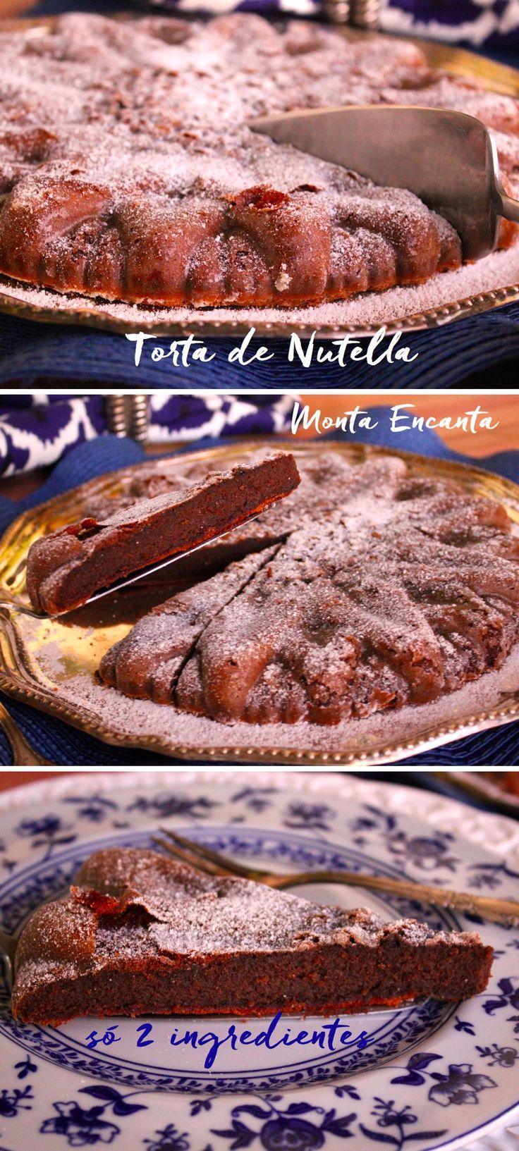 Torta de Nutella. Lembra um  brownie,   no centro textura macia e por fora uma casquinha crocante,  sabor delicado do  chocolate de avelãs.  MARA, de enlouquecer qualquer um, ah de quebra é glúten free.