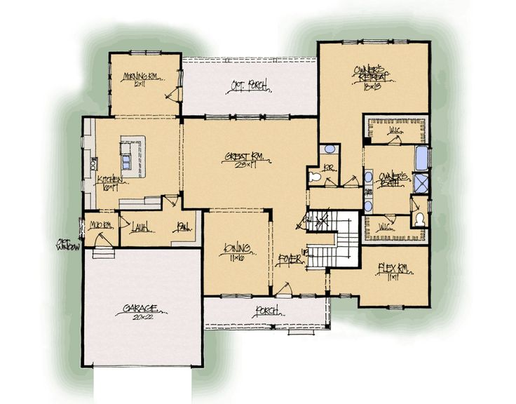 Abigail a midwest schumacher homes home floor plans for Midwest living house plans
