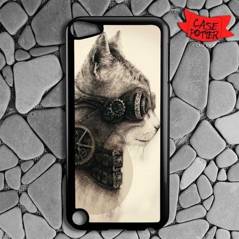 Steampunk Cat iPod 5 Black Case