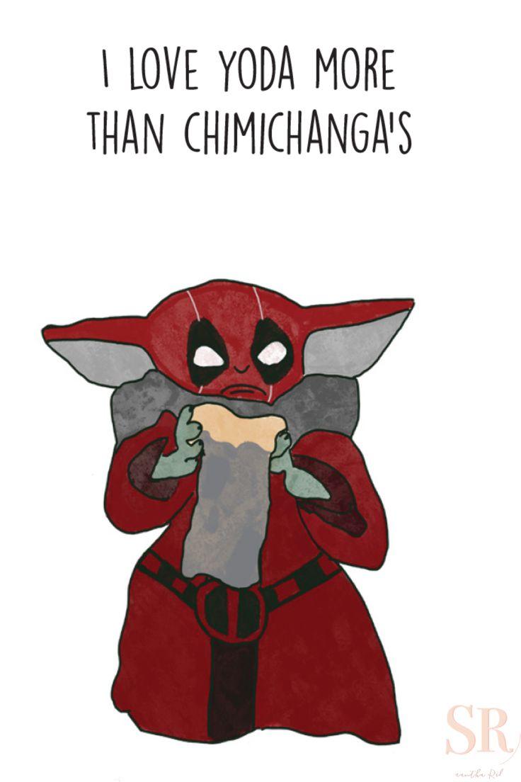 Baby Yoda, Deadpool, Birthday Card, Anniversary, Funny