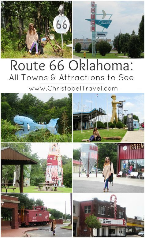 Route 66 Oklahoma: All Towns & Attractions to See – A road trip guide / bucket list / route map for towns, Ghost towns, roadside attractions, landmarks, stops, vintage signs, aesthetic, murals, gas pumps & other things to do in Oklahoma, USA. You can start from Texas border to Kansas border through Oklahoma City & Tulsa. Pictures will inspire baby shower ideas, bedroom boys, birthday party ideas, classroom décor, cake ideas, decorations diy, nursery, living room art and other fashion items.
