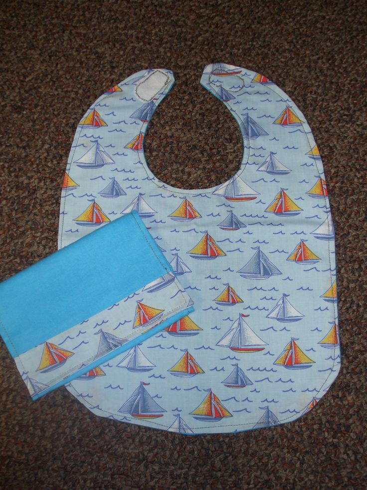 Gone Sailing...Bib & Matching Burp Cloth $12
