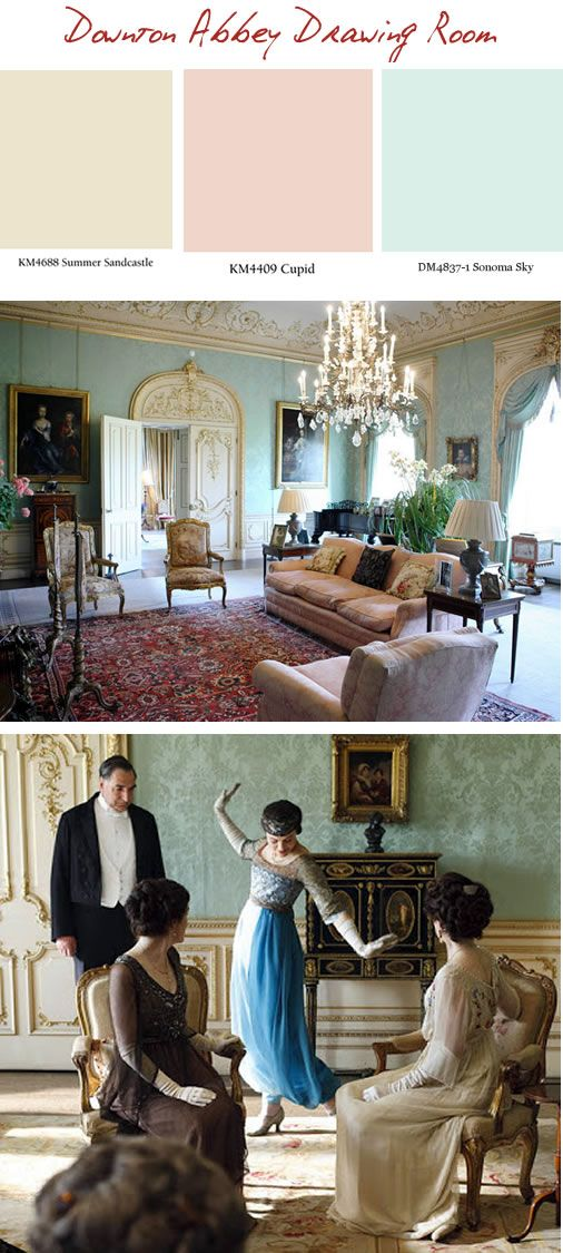 Downton Abbey Color Palette   Downton Abbey Drawing Room