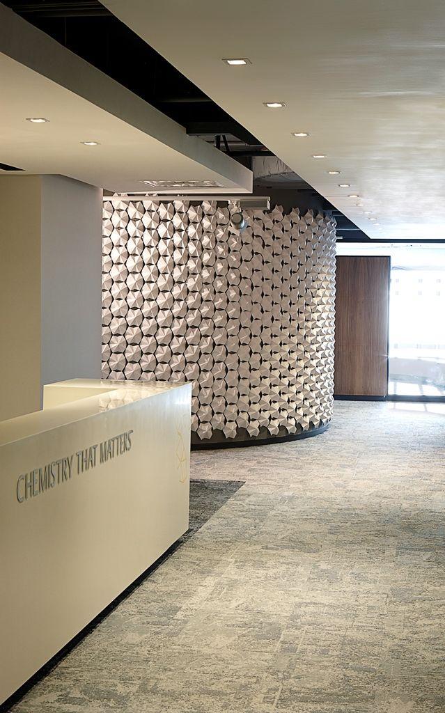 Sabic Office Reception Detail Interior Design By Source Interior Brand Architecture Brand Architecture Interior Design