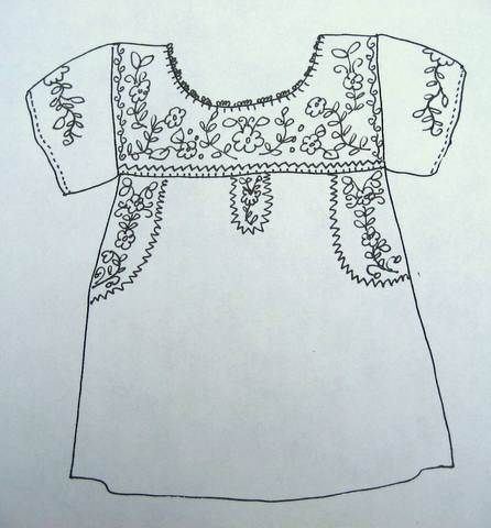 Mexican style embroidery sketches