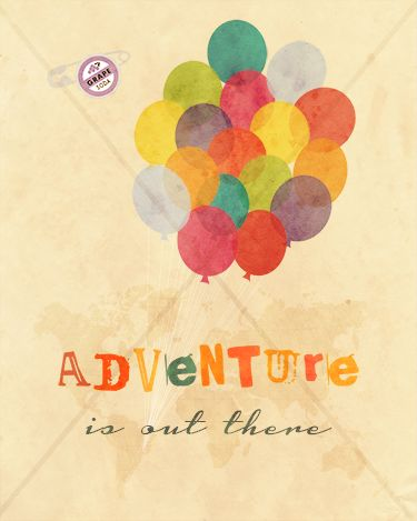 "Disney Pixar Up ""Adventure is out there"" Grape Soda - 8x10 Instant Download Print Frame Wall Decor Printable DIY"