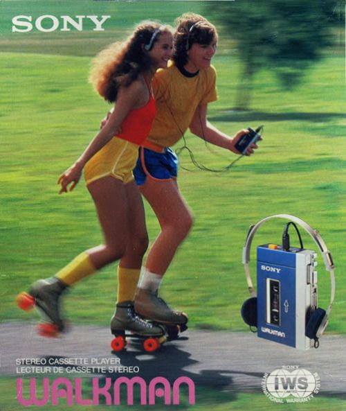 Sony Walkman TPS12, ad for the Stereo cassette player, 1979.