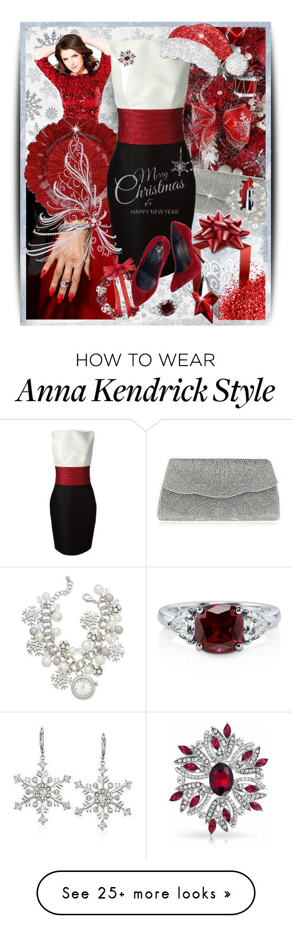 """""""Merry Christmas & Happy New Year!"""" by pwhiteaurora on Polyvore featuring Kaisercraft, Nina, Dsquared2, Lord & Taylor, Giuseppe Zanotti, Ross-Simons, Charter Club, Thierry Mugler and BERRICLE"""