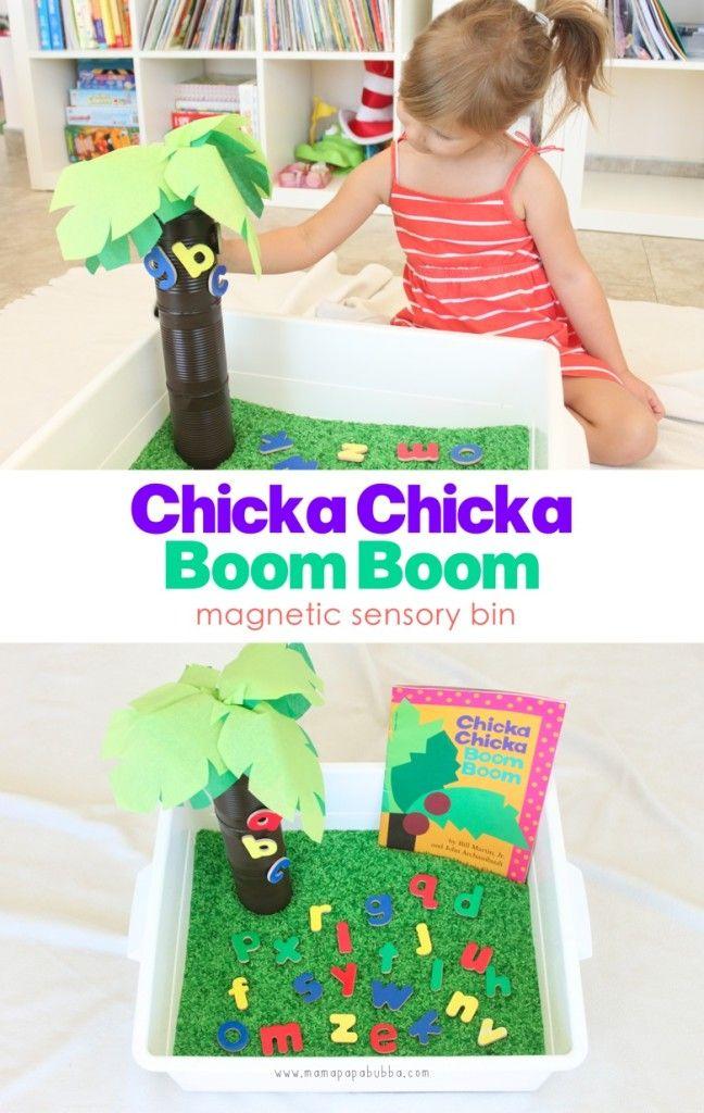 Chicka Chicka Boom Boom: A Sensory Bin - Mama. Papa. Bubba.