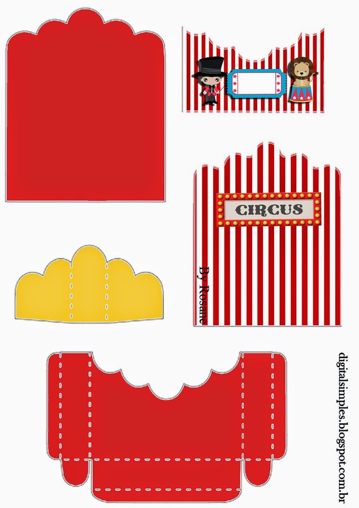 The Circus: Free Printable Candy Packages Support.