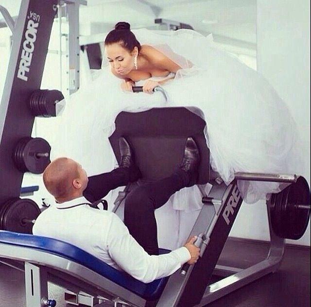 Gym wedding | Gym addiction | Wedding, Funny Wedding ...