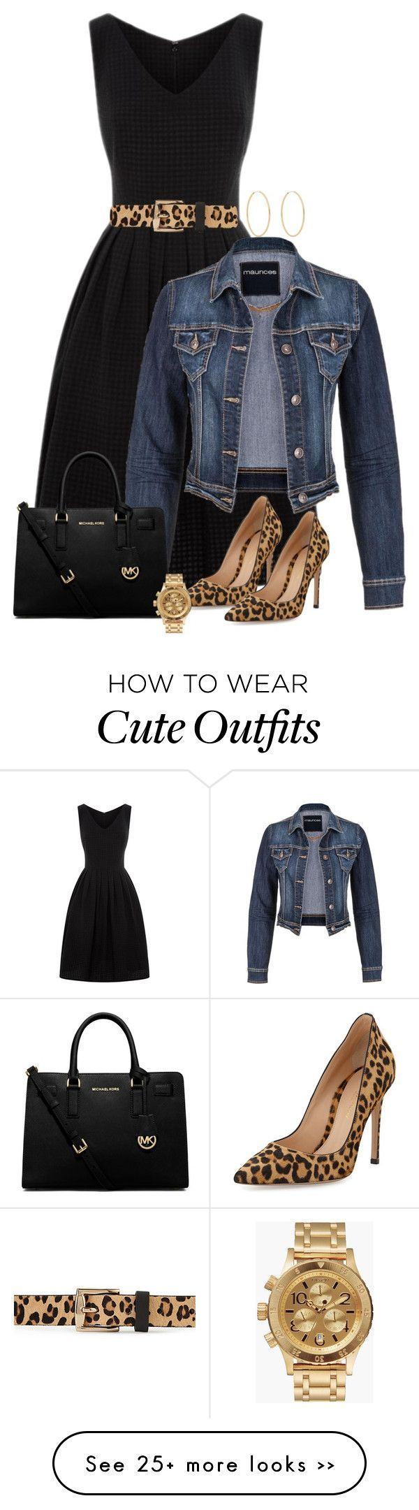 Black Dress and Leopard Shoes with jean jacket is a great look for any holiday or date night!
