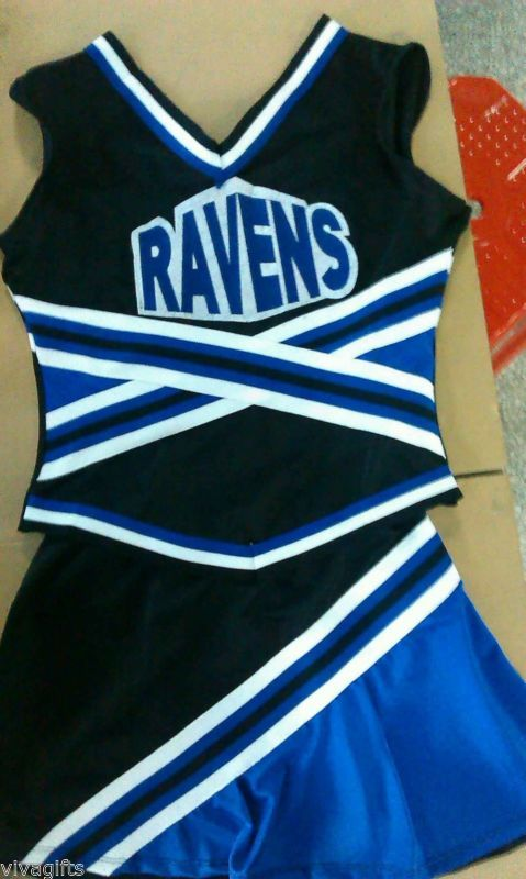IN STOCK NOW!! RAVENS ONE TREE HILL Cheerleader Costume sz  6/8