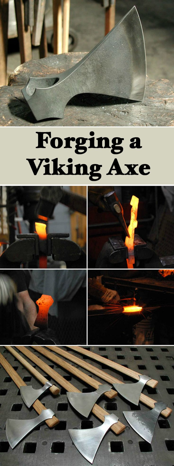 "Forging a Viking Axe | My goal was to find a procedure that could best produce my ""ideal"" wish-list of features in a Viking-style axe eye with fairly simple tooling."