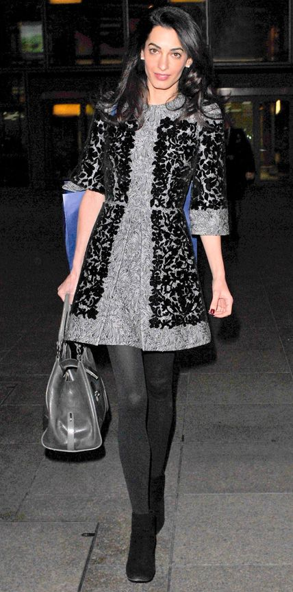 Look of the Day - November 25, 2014 - Amal Clooney in Dolce & Gabbana from #InStyle