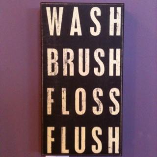 love!: Ideas, Boys Bathroom, Brushes Floss, Kids Bathroom, Boxes Signs, Boy Bathroom, Wash Brushes, Primitive, Bathroom Signs